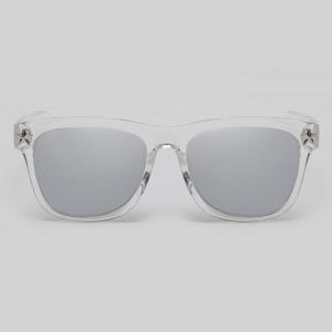 Chic Star Embellished Transparent Wayfarer Sunglasses