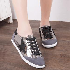 Fashionable Star and Splicing Design Athletic Shoes For Women -