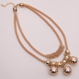 Retro Multilayered Beads Necklace - GOLDEN