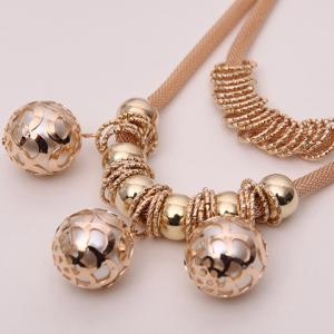 Retro Multilayered Beads Necklace -