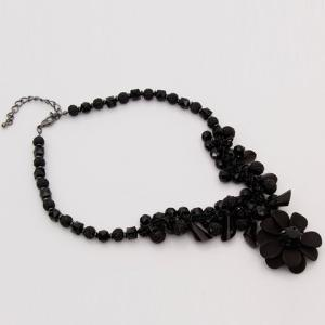 Fruits Flower Faux Crystals Pendant Necklace -