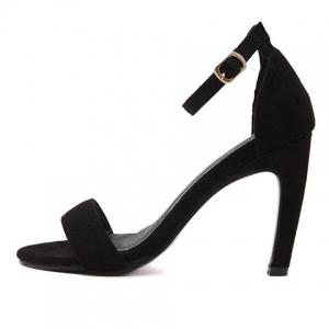 Trendy Stiletto Heel and Ankle Strap Design Sandals For Women -