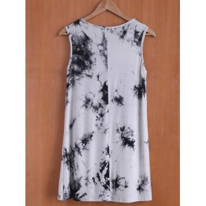 Casual Sleevless Round Neck Oil Print Women's Dress -