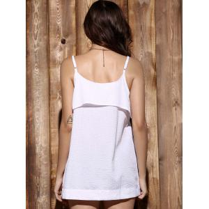 Fashionable Spaghetti Strap Solid Color Flounce Women's Tank Top -