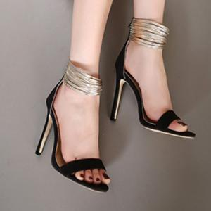 Trendy Zipper and Colour Block Design Sandals For Women -