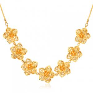 Flower Shape Hollow Out Necklace