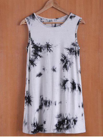 Sale Casual Sleevless Round Neck Oil Print Women's Dress
