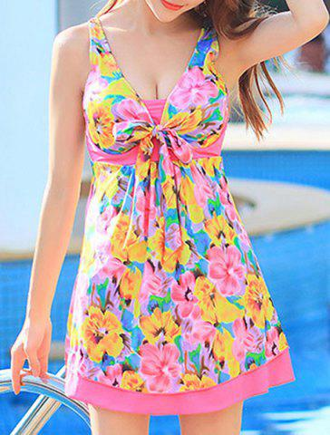 Shop Floral Printed High Waist One-Piece Cute Bathing Suit