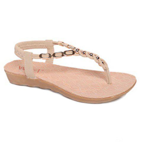 Discount Bohemia Metal and Beading Design Sandals For Women