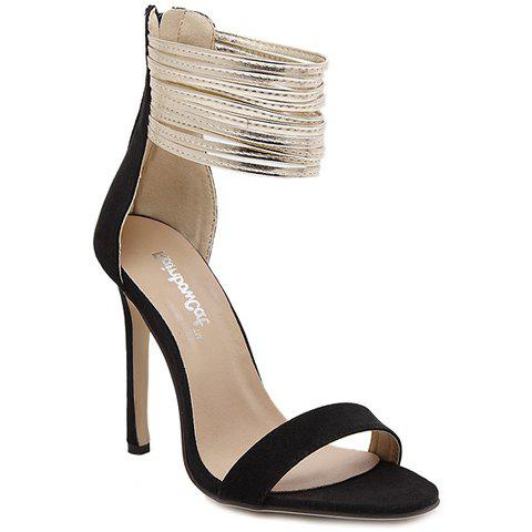 Outfit Trendy Zipper and Colour Block Design Sandals For Women