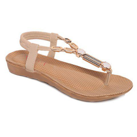 Store Leisure Flip Flop and Metal Design Sandals For Women