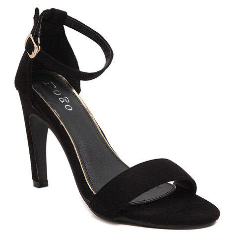 Outfit Trendy Stiletto Heel and Ankle Strap Design Sandals For Women