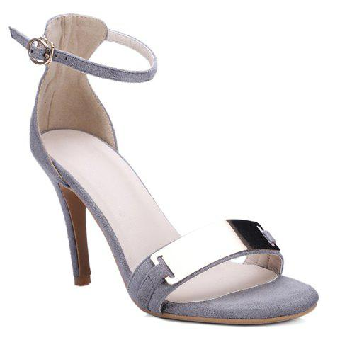 Shop Metal Bar High Heel Ankle Strap Sandals
