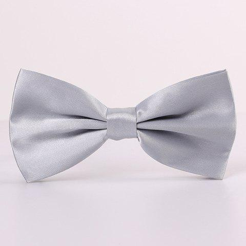 Outfit Stylish Candy Color Double-Deck Satin Bow Tie For Men