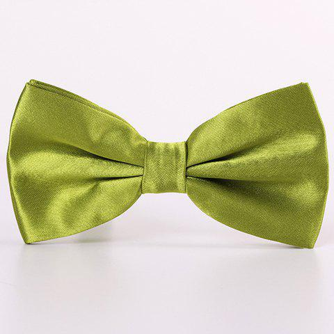Stylish Candy Color Double-Deck Satin Bow Tie For Men - Celadon - 38