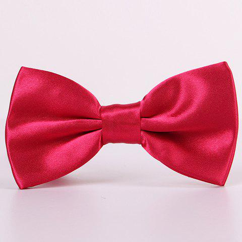 Latest Stylish Candy Color Double-Deck Satin Bow Tie For Men - ROSE  Mobile