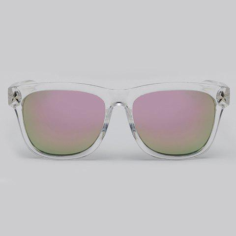 Latest Chic Star Embellished Transparent Wayfarer Sunglasses