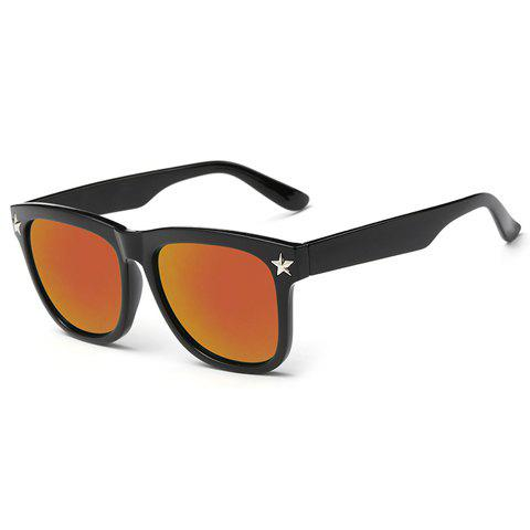 Sale Stylish Small Five-Pointed Star Shape Embellished Black Sunglasses For Men