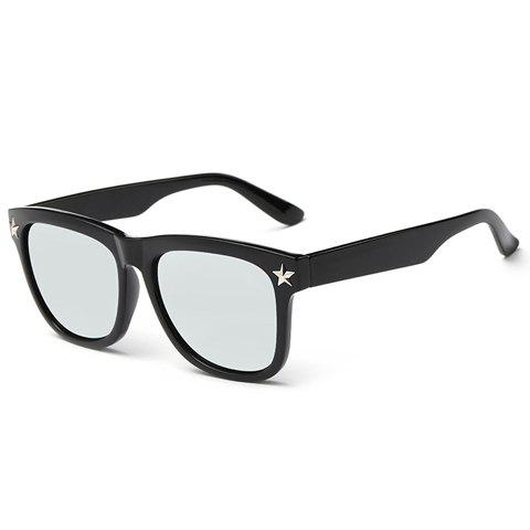 Discount Stylish Small Five-Pointed Star Shape Embellished Black Sunglasses For Men