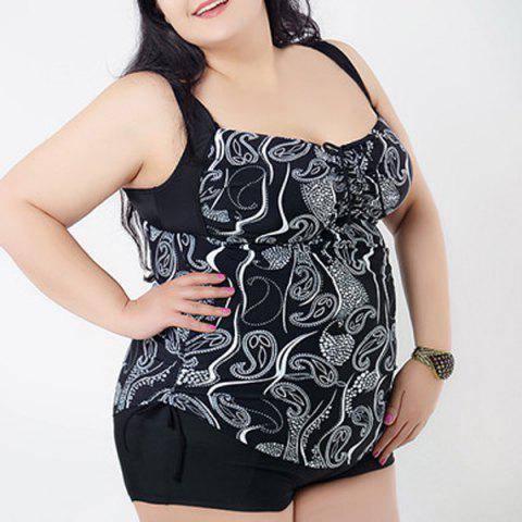 New Brief Sweetheart Neck Floral Print Swimsuit For Women