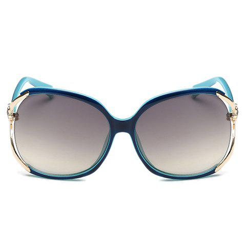 Chic Flower Shape and Hollow Out Embellished Black and Blue Sunglasses For Women от Rosegal.com INT