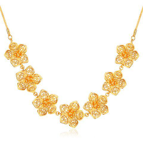 Hot Flower Shape Hollow Out Necklace GOLDEN
