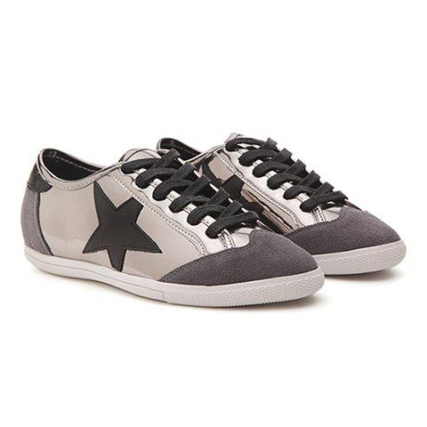 Shops Fashionable Star and Splicing Design Athletic Shoes For Women