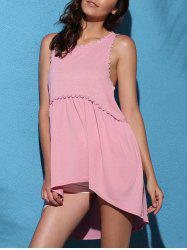 Drop Armhole Long Tunic Tank Top