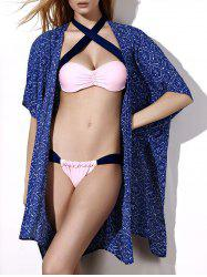 Retro Style Collarless Printed Loose-Fitting Women's Cover-Up -