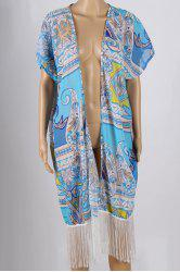 Stylish Printed Fringed Cover-Up For Women -