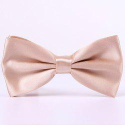 Stylish Candy Color Double-Deck Satin Bow Tie For Men - APRICOT