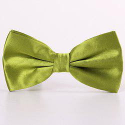 Stylish Candy Color Double-Deck Satin Bow Tie For Men - CELADON