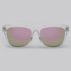 Chic Star Embellished Transparent Wayfarer Sunglasses - PINK