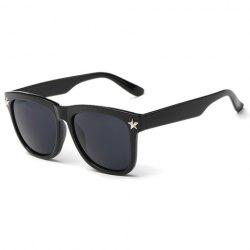 Stylish Small Five-Pointed Star Shape Embellished Black Sunglasses For Men -