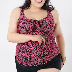 Brief Sweetheart Neck Leopard Swimsuit and Boxers For Women