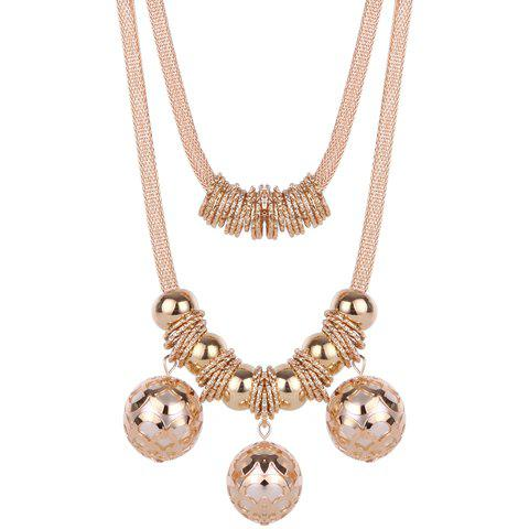 Retro Multilayered Beads NecklaceJEWELRY<br><br>Color: GOLDEN; Item Type: Pendant Necklace; Gender: For Women; Style: Trendy; Shape/Pattern: Others; Weight: 0.110kg; Package Contents: 1 x Necklace;