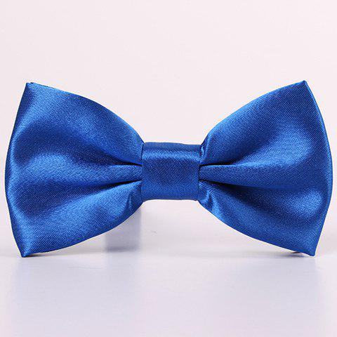 Discount Stylish Candy Color Double-Deck Satin Bow Tie For Men