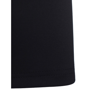 Graceful Twist Design Cap Sleeve Black Dress For Women -