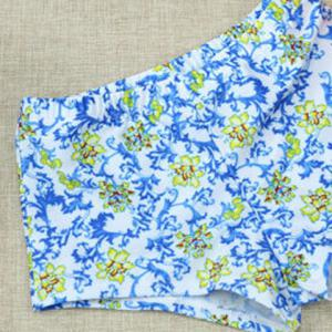 Floral Print Hollow Out Swimwear -