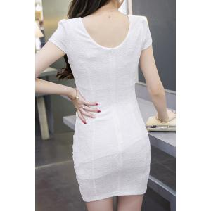 Trendy V- Neck Short Sleeve Cut Out Bodycon Dress For Women -