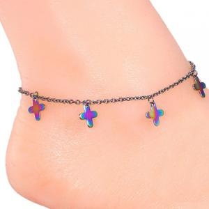 Sweet Colored Cross Anklet For Women - COLORMIX