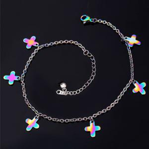 Sweet Colored Cross Anklet For Women