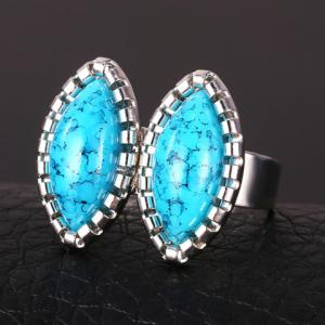 Chic Faux Turquoise Oval Ring For Women -