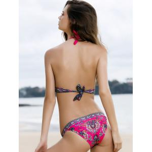 Attractive Halterneck Printed Bikini Set For Women -