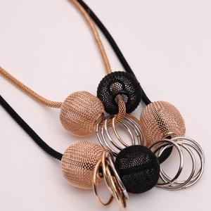 Multilayer Beads Circle Decorated Alloy Necklace -
