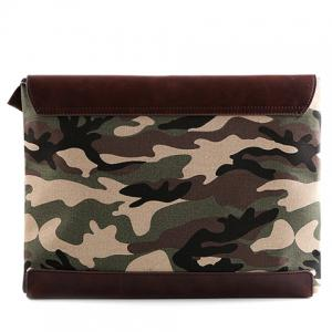 Stylish Covered Closure and Camouflage Pattern Design Clutch Bag For Men -