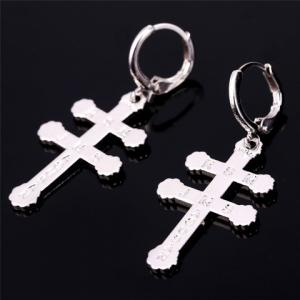 Pair of Graceful Bible Cross Earrings For Women -