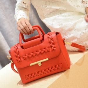 Vintage Weaving and Hasp Design Tote Bag For Women -