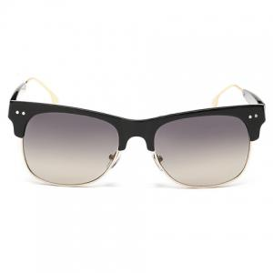 Trendy Metal Frame Splicing Design Black Sunglasses -