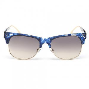 Trendy Metal Frame Splicing Design Flecky Sunglasses -